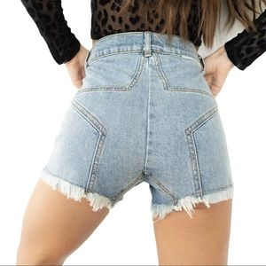 Revice Star Butt Jean Shorts Size 27